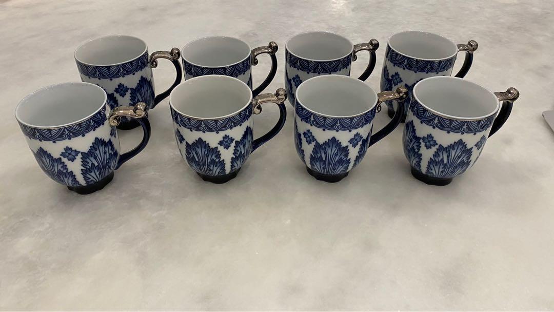 Bombay China Mugs (Set of 8)