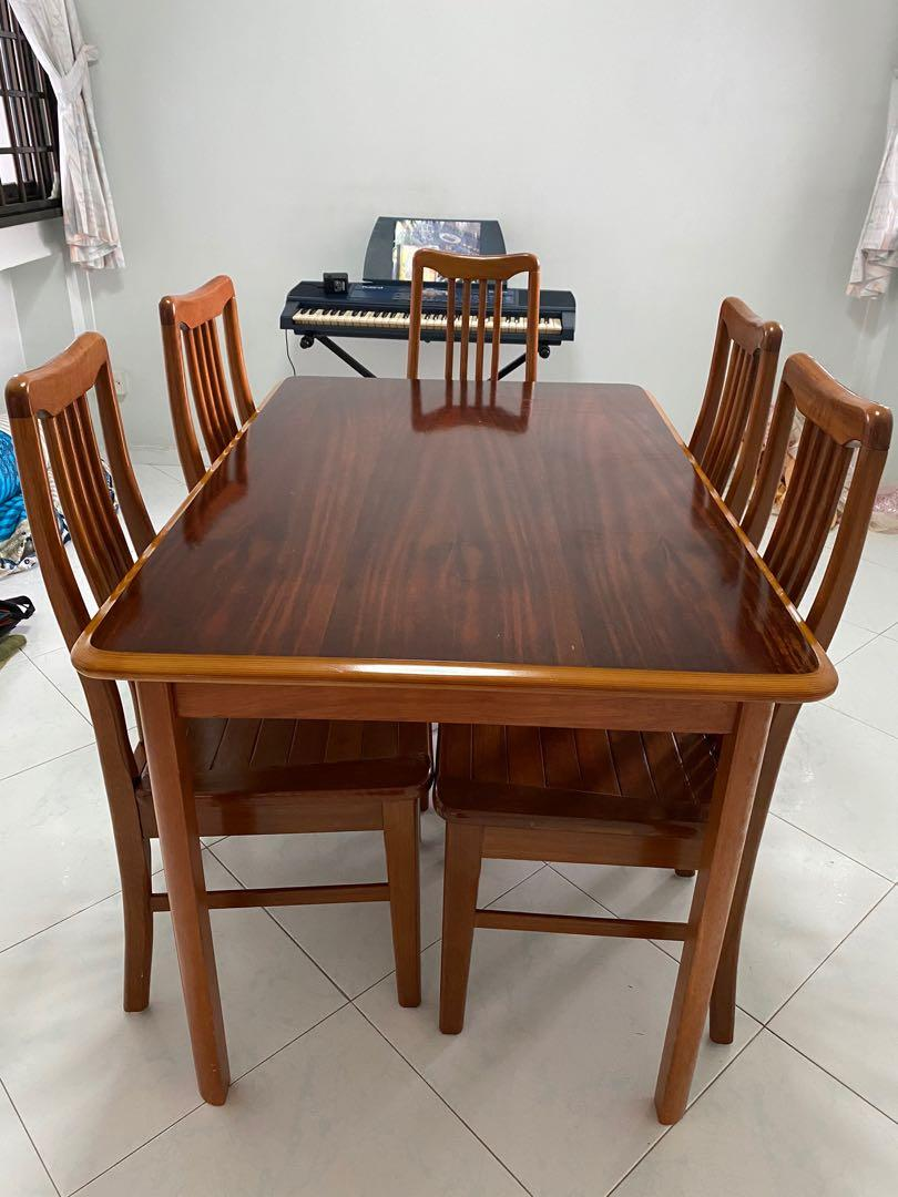 Dining Table Set With 5 Chairs Moving Sales All Must Go Retro Vintage Wood Furniture Tables Chairs On Carousell