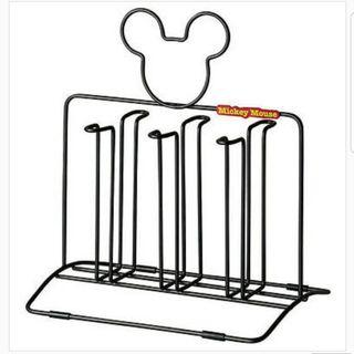 Rare Mickey Mouse Glass Holder Rack Stand