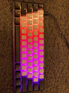 Ducky One 2 Mini rgb (Cherry MX Blue Switches)(pudding caps not included)