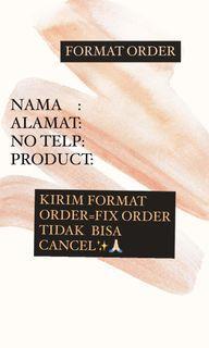 FORMAT ORDER @PRELOVEDBYARIN.KH
