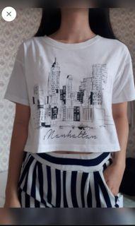 #novjajan Forever 21 Manhattam T-shirt (kaos) (croptee) (f21)