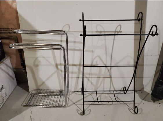 Towel stand and quilt rack
