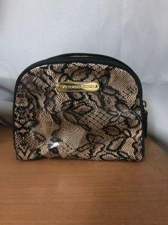 Victoria's Secret lace patent pouch