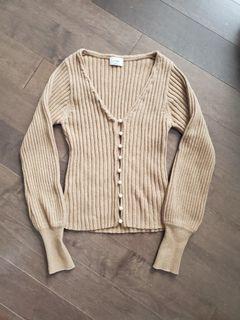 Aritzia Wilfred Pearl  Wool Cardigan