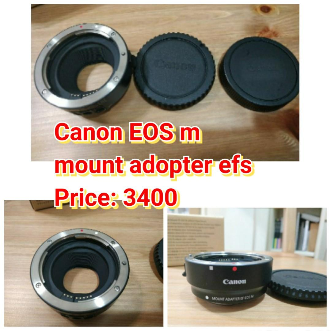 Canon EOS m  mount adopter efs