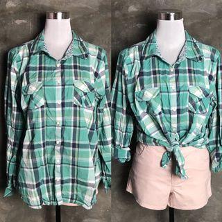 Checkered Green/White Polo