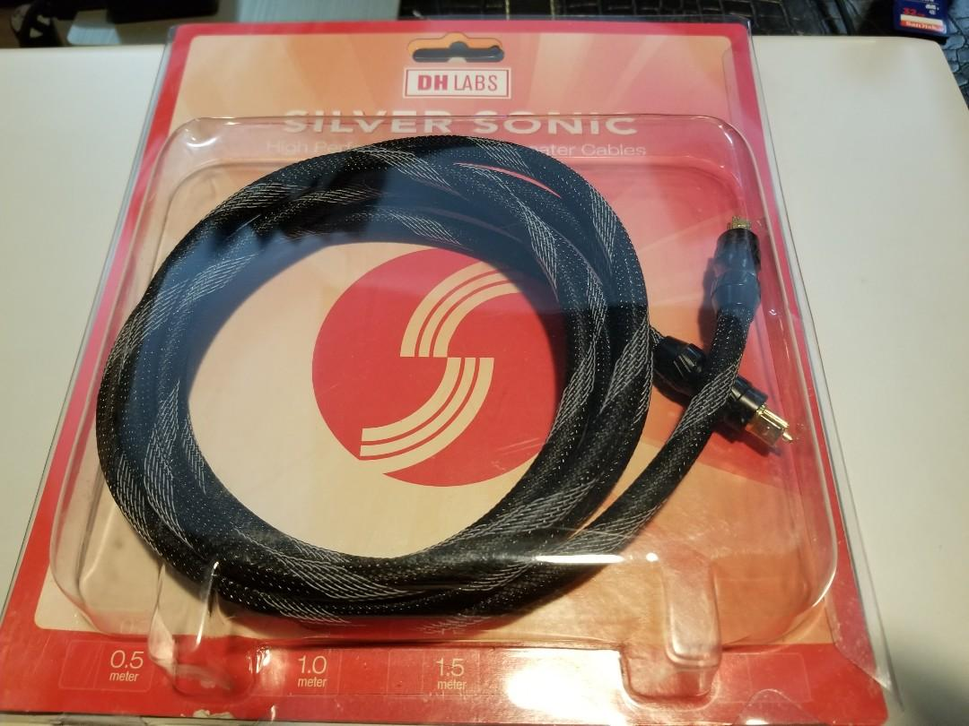DH Labs Silver Sonic Optical Toslink Cable 2 metre