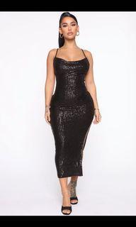 Fashion Nova sequin midi dress