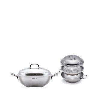 Happy stainless Party Wok 28cm