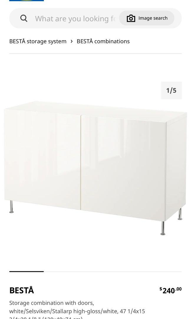 IKEA Besta High Gloss (white)
