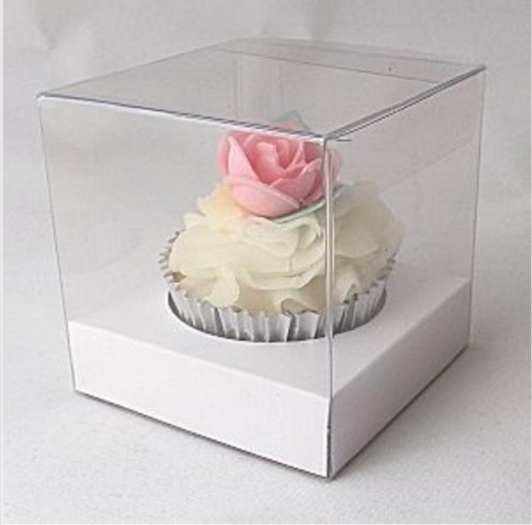 Individual Clear Cupcake Boxes with inserts