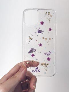 iPhone 11 PRO set floral case + 3 piece screen protector