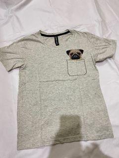 kaos polos / baju gambar pug