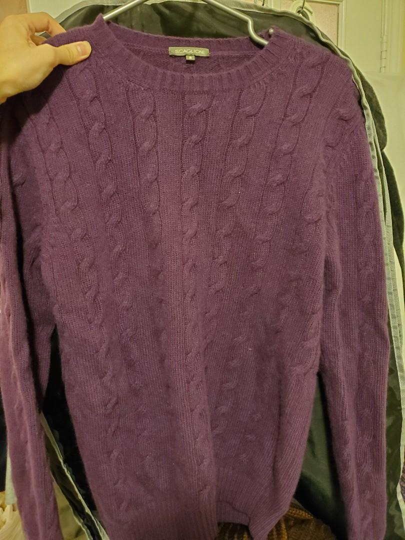 Scaglione angora wool winter knit sweater MADE in ITALY IT46 us36