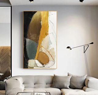 In stock - Simple Abstract Canvas Painting