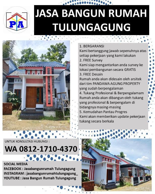 TERMURAH | 0812-1710-4370 | Jasa Bangun Rumah Borongan di Tulungagung, PANDAWA AGUNG PROPERTY