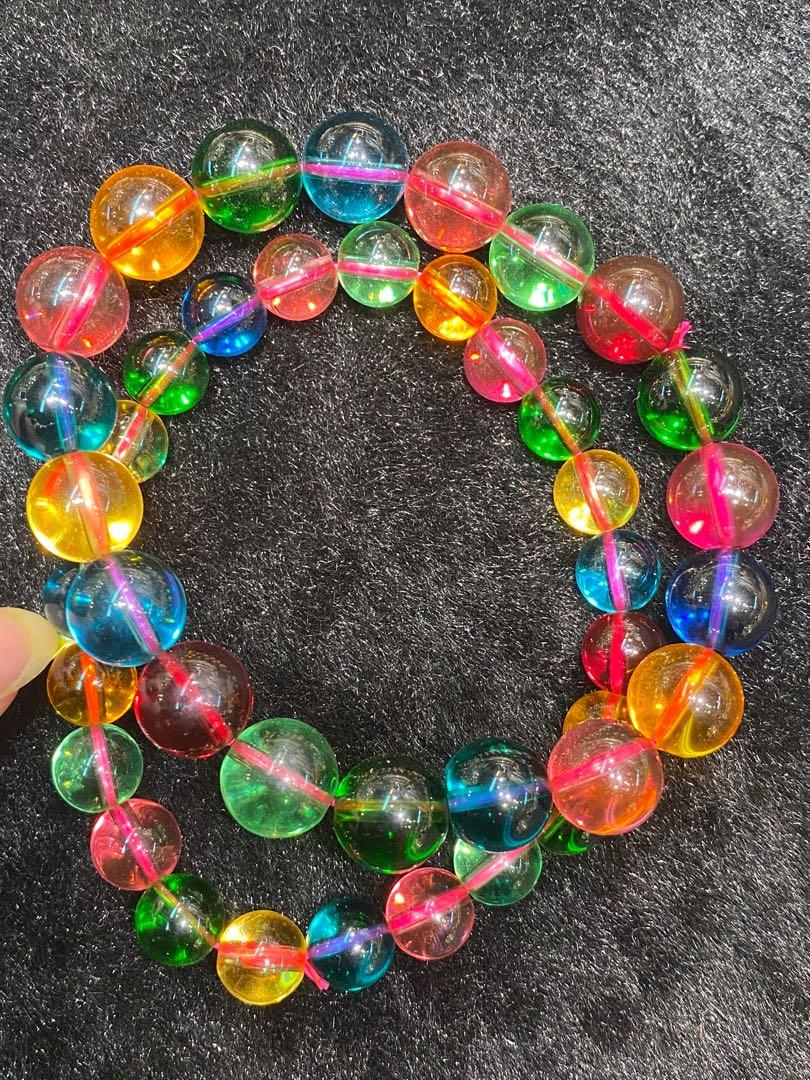 糖果碧璽手珠、超透超亮超美、高品質7A碧璽、8mm