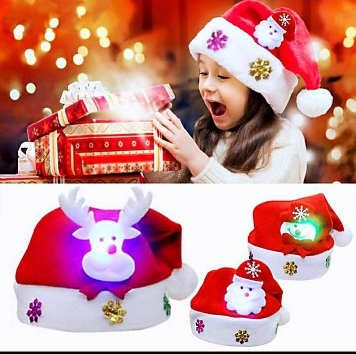 發光聖誕帽子 親子聖誕造型裝飾品 聖誕節 成人聖誕老人/兒童雪人聖誕帽