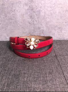 【♥ 琳琳私物 ♥】valentino ◌  珍珠漆皮皮帶