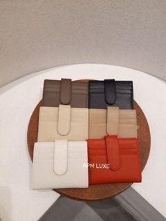 韓國bucks&leather淺咖短夾