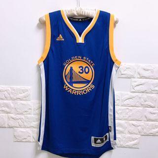 全新)專櫃正品CURRY 金州勇士隊 NBA籃球衣 adidas 愛迪達-XS