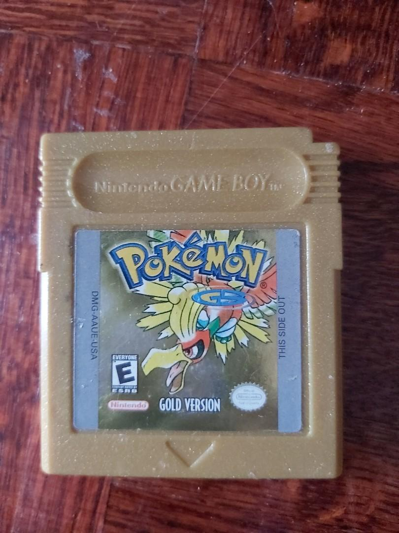 Gameboy color pokemon gold