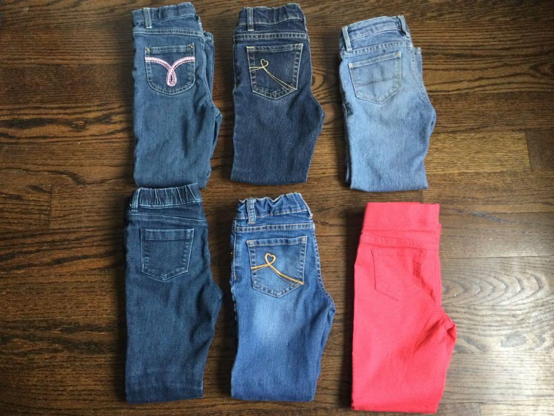 Girls lot of jeans 7 total-$15 for the lot