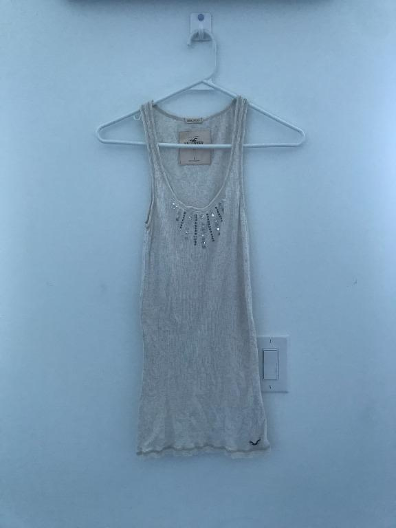 Hollister Sequin Tank Top Size Small