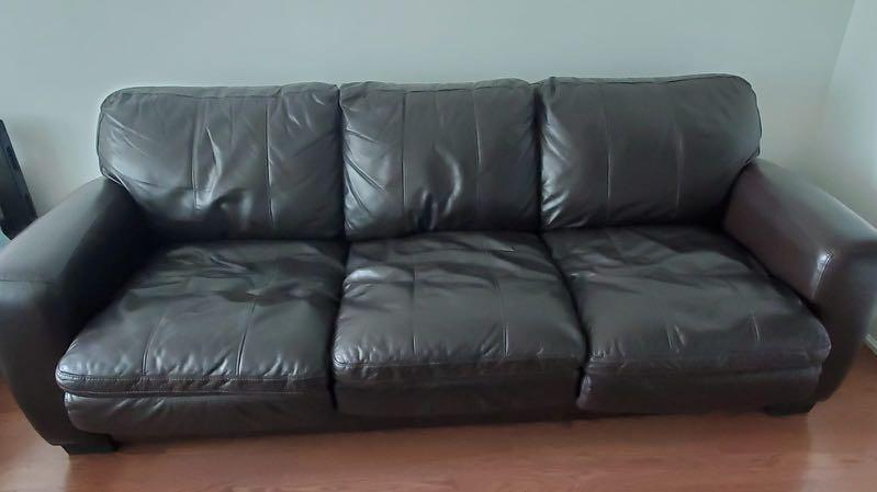 Leather Couch - Brown