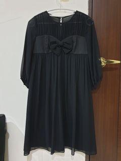 鴿子MISSHATO 八分袖雪紡洋裝