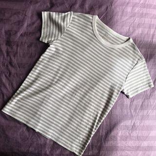 Muji striped cotton shirt (gray)