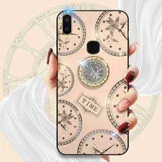 Vivo Y15 2020 閃粉時鐘玻璃防撞手機殼手機套