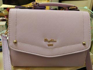 天藍小舖紫色斜背手提包