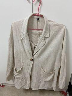 亞麻材質外套及上衣