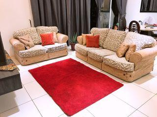 Fila Branded 5 Seats Sofa (Washable + 2 Different Design Covers)