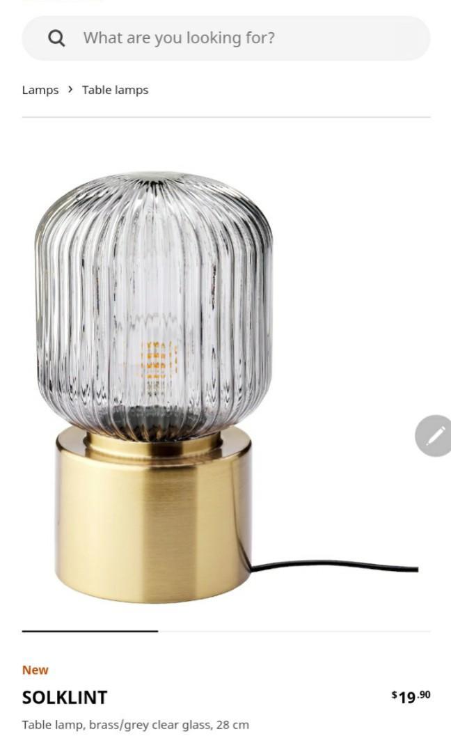 Ikea Solklint Table Lamp Furniture, Rose Gold Table Lamp Ikea