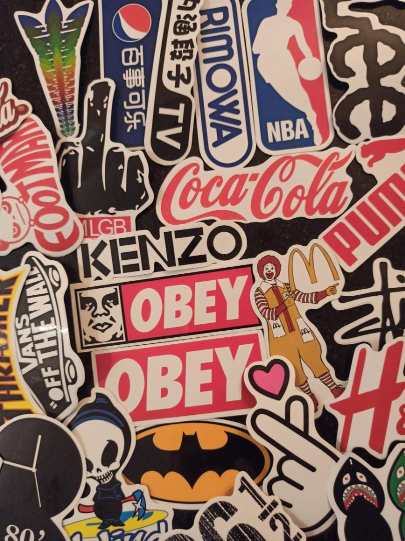 Laptop Stickers Iconic Brands