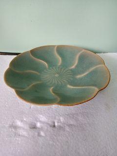 Longquan Celadon Floral Plate