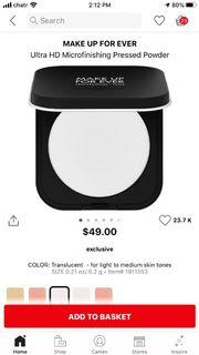 Make Up Forever Ultra HD Microfinishing Pressed Powder