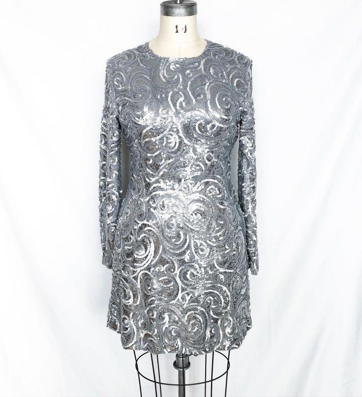 New with tags Silver Sequin Perseverance Dress