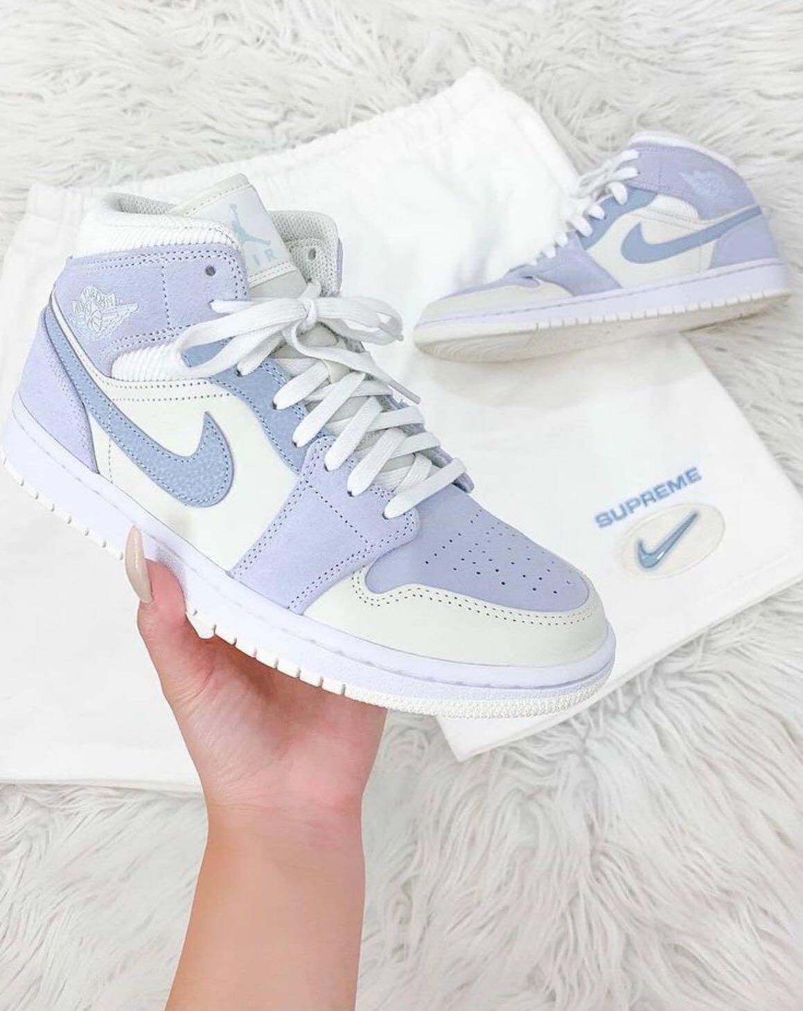 Nike Air Jordan 1 Mid SE Sail Light Blue