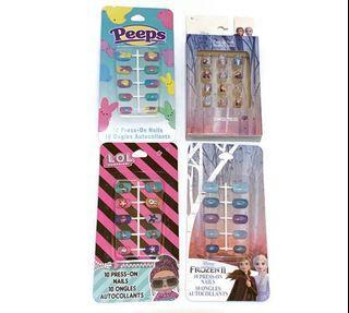 Press on nails frozen LOL peeps