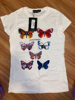 PrettyLittleThing butterfly tshirt