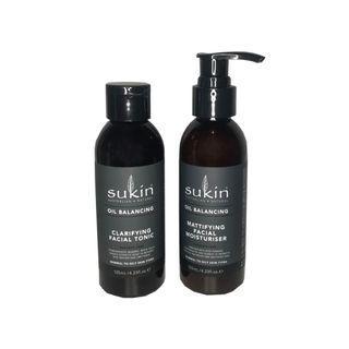 Sukin Oil Balancer Toner & Moisturizer Set