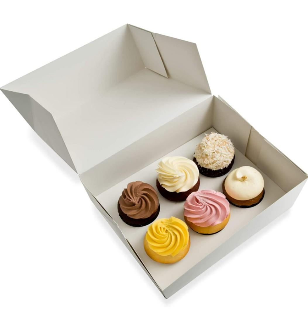 White Cupcake Boxes with inserts