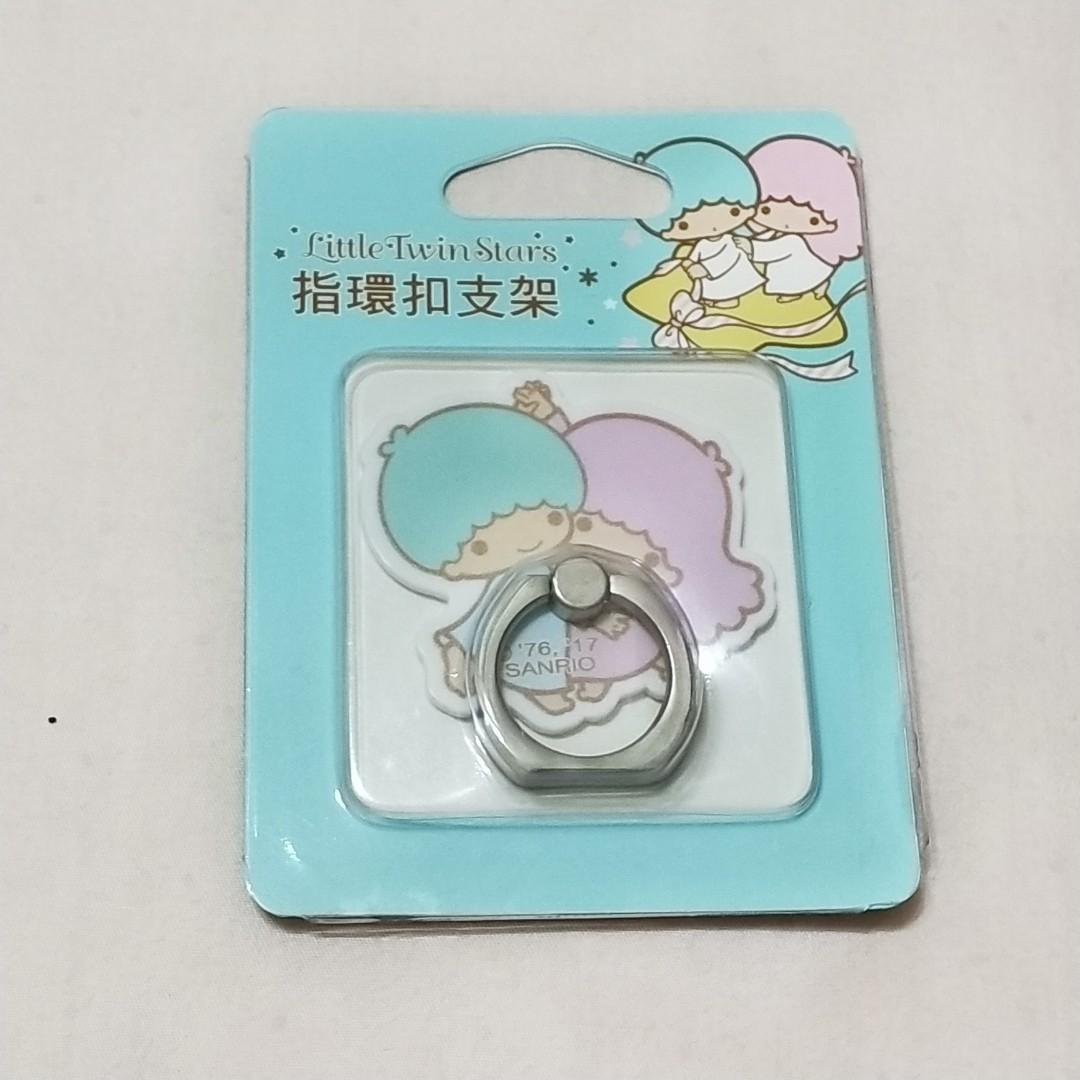 三麗鷗 正版雙子星 手機指環扣支架,#賣場內另有一卡通、悠遊卡、icash