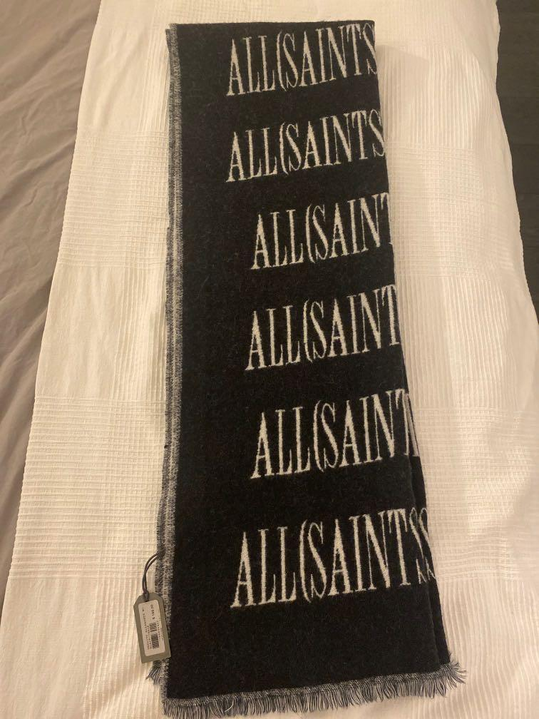 All Saints Wool Blanket Scarf Reversible