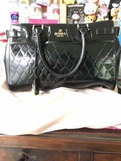 Bonia  Bag New Patent black