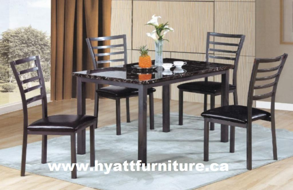 Brand new Modern Style  5pcs Marble Finished Dinette Set only $398